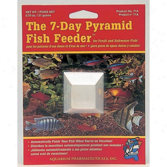 Mars Fishcare Noorth America Pyramid 7 Day Fish Feeder - 1 Pack