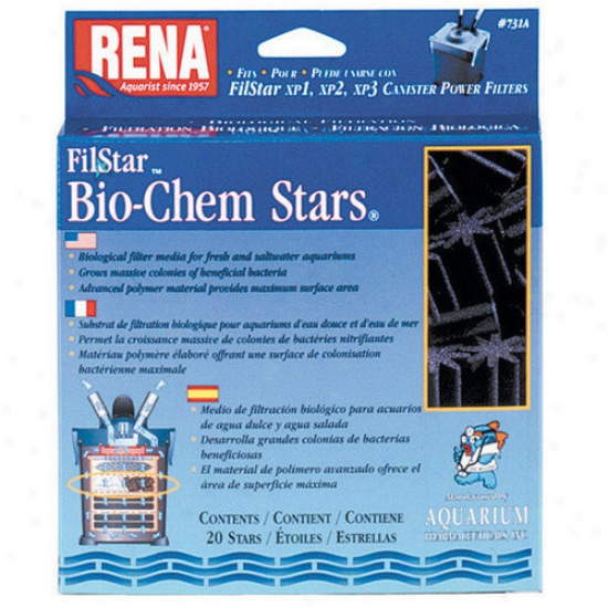 Mars Fishcare North America Rena Filstar Bio-chem Stars Filter - 20 Count
