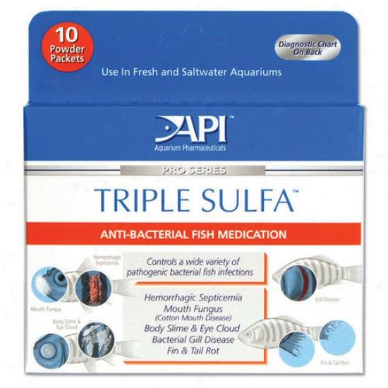 Mars Fishcare North America Triple Sulfa Powder Packet  Fish Medication