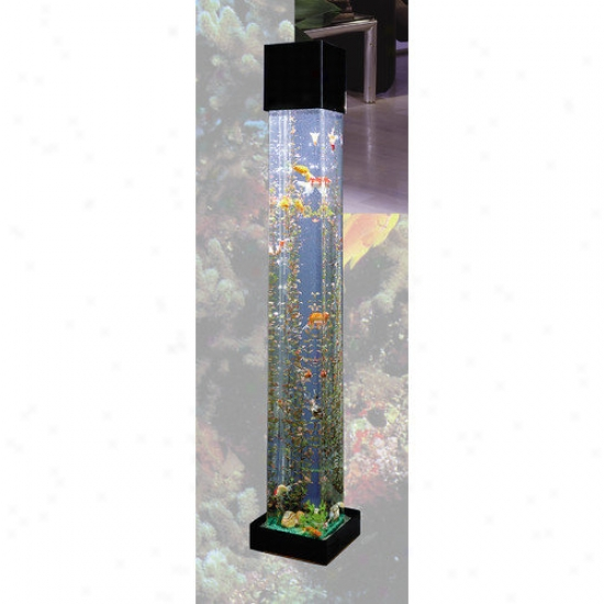 Midwest Tropical Fountain Aquatower 20 Gallon Square Aquarium