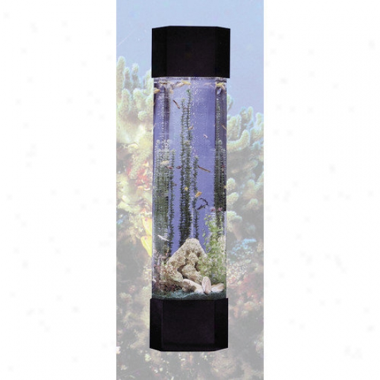 Midwest Tropical Fountain Aquatower 30 Gallon Pentagon Aquarium