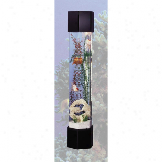 Midwest Tropical Fountain Aquatower 50 Gallon Hexabon Aquarium