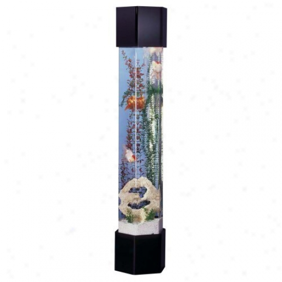 Midwest Tropical Hexa Round Aqua Tower Aquarium Set