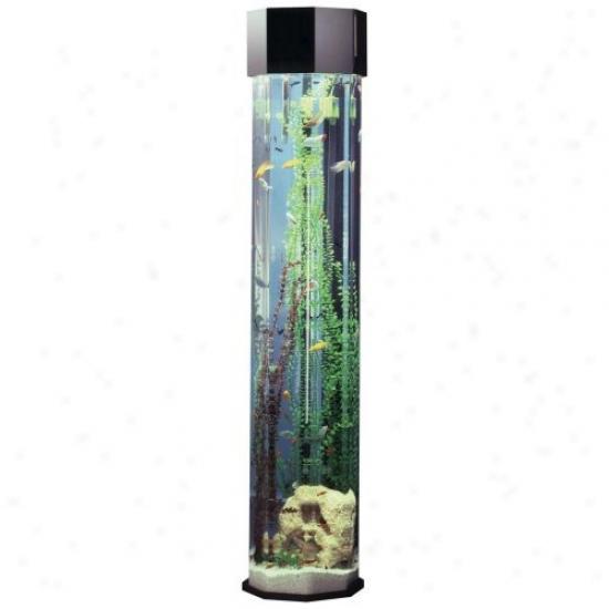 Midwest Tropical Octagon Aquatower 55 Gallon Aquarium Set - 80 In.
