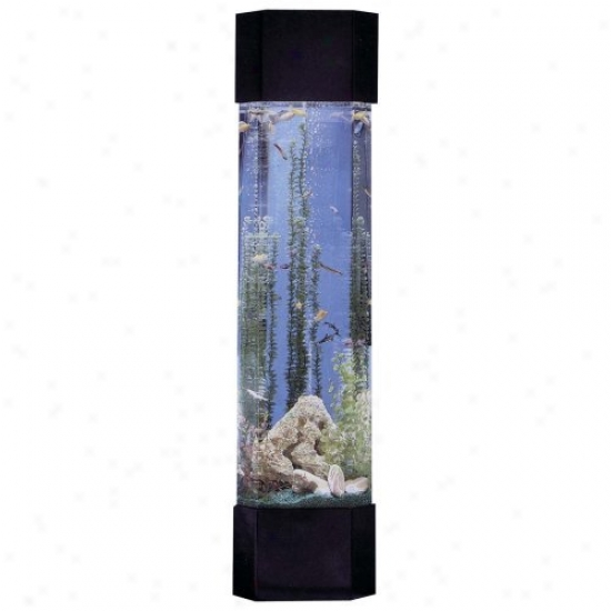 Midwest Tropical Pentagin Aqua Tower 30 Gallon Aquarium Set