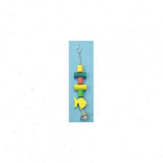 North American Pet Bbo22290 Dowel With Fish Bird Toy
