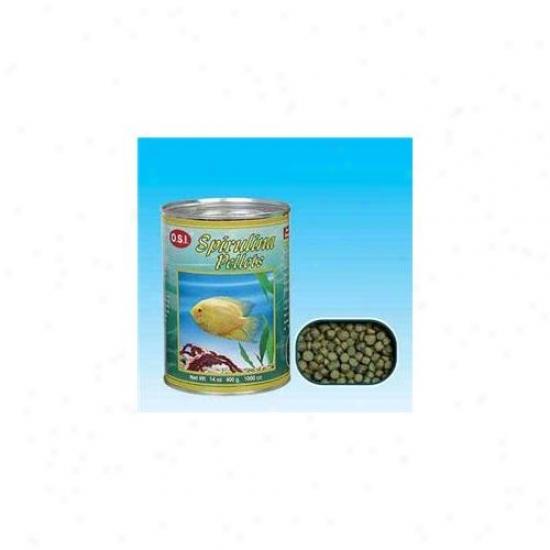 Ocean Star International Aosi1235 Medium Spirulina Pellets 12oz