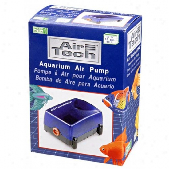 Penn-plax At2k0 10 Gallon Air Tech Aquarium Air Pump