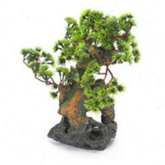 Penn Plax Bonsai Tree On Rocks Aquarium Decor - Style 2