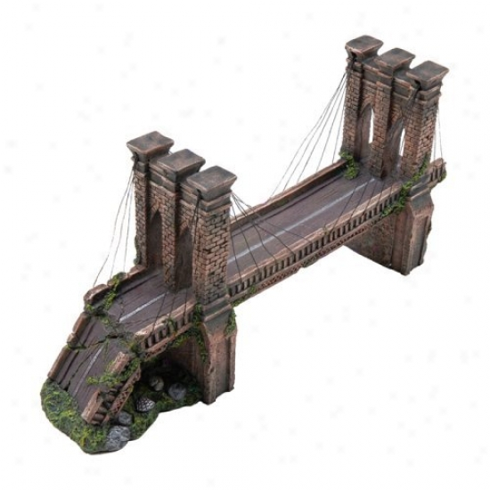 Penn Plax Brooklyn Bridge Aquarium Decor - Medium