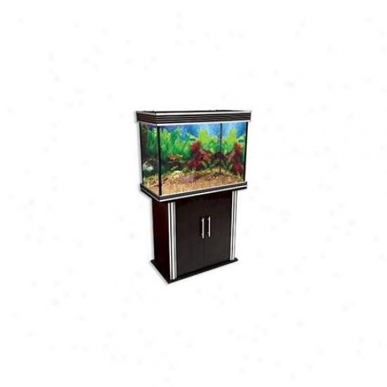 Penn Plax Lla11b-k Nautilis Ii 58 Gallon Rectangular Aquarium - Beech With Aquarium Kit