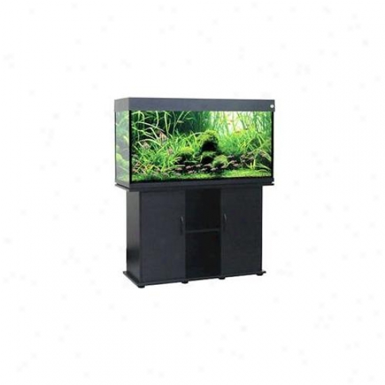 Penn Plax Lla9bl-k Delta Queen V 75 Gallon Rectangular Fish Tank - Black With Aquarium Kit