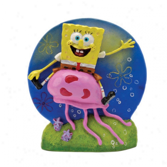 Penn Plax Nickelodeon Spongebob Squarepants And Jellyfish Ornament