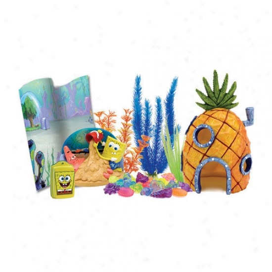 Penn Plax Nickelodeon Spongebob Squarepants Auarium Decorating Kit