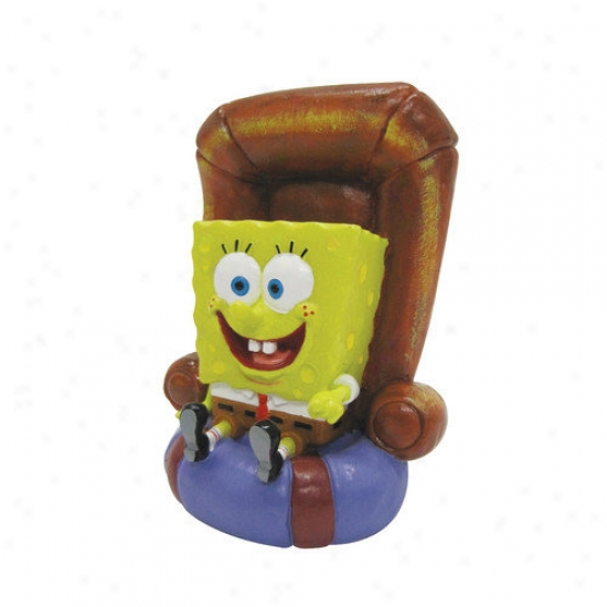 Penn Plax Nickelodeon Spongebob Squarepants In Chair Ornament