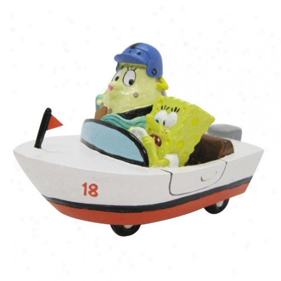 Penn Plax Nickelodeon Spongebob Squarepants Mrs. Puff And In Rowboat