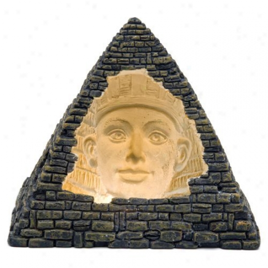 Penn Plax Pyramid Face Cave Aquarium Decor