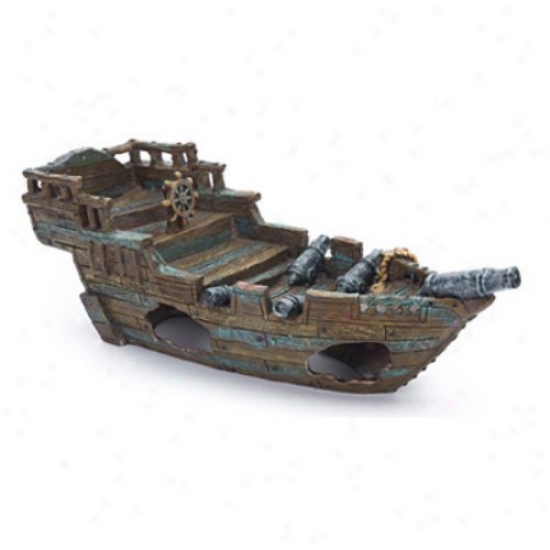 Penn Plax Shipwreck Aquarium Decor - Medium