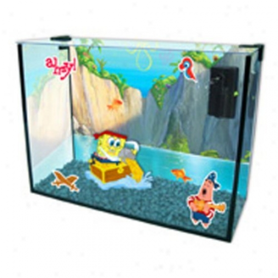 Penn Plax Spongebob Heaven Cove Tank And Aquarium Kit