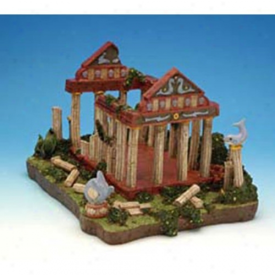 Penn Plax Temple Of Dolphins Aquarium Decor - Medium