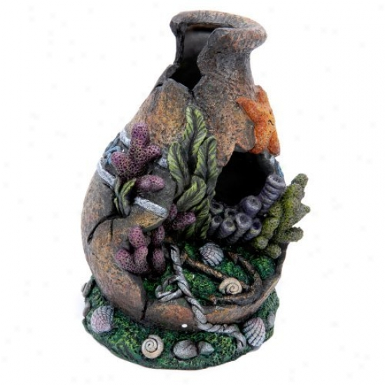 Penn Plax Undersea Urn Aquarium Decor - Small