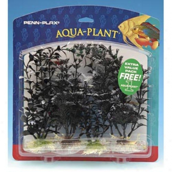 Penn Plax Value Pack Aquarium Plants - Black Pearl Assortment