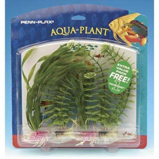 Penn Plax Value Pack Aquarium Plants - Green Plant Assortment