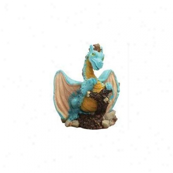 Pure Aquatic - Design Elements Azure Dragon Ornament- Azure - 257034