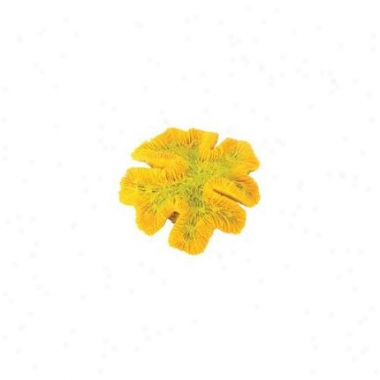 Pure Aquatic Contrivance Elements Yellow Coral Aquarium Ornament