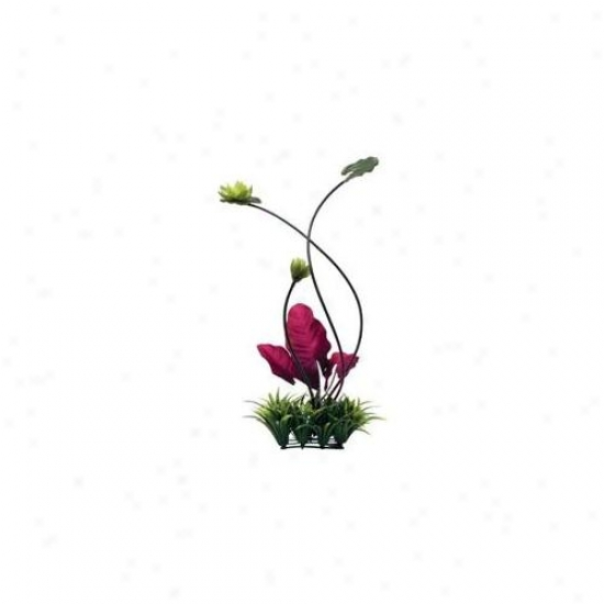 Rc Hagen 12196 Fluval Chi Lily Pad And Plant Grass Ornament