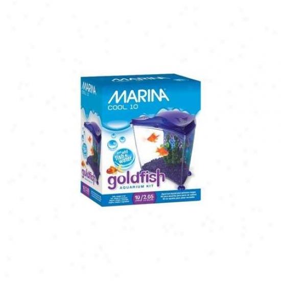Rc Hagen 13383 Marina Cool Goldfish Kit Purple, Means 2. 65 Gal.