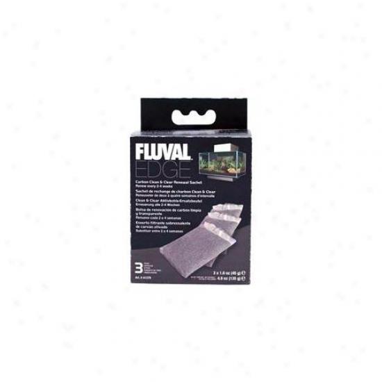 Rc Hagen A1379 Fluval Edge Carbon Renewal Sachets - 3-pack