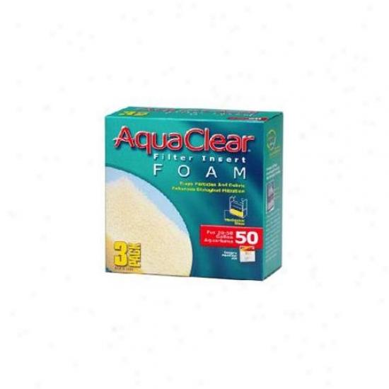 Rc Hagen A1394 Aquaclear 50 Foam Insert - 3-pack