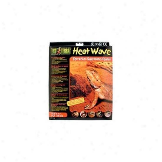 Rc Hagen Pt2030 Exo Terra Heatwave Desert, 8w, 110v, 8 Inch X 8 Inch
