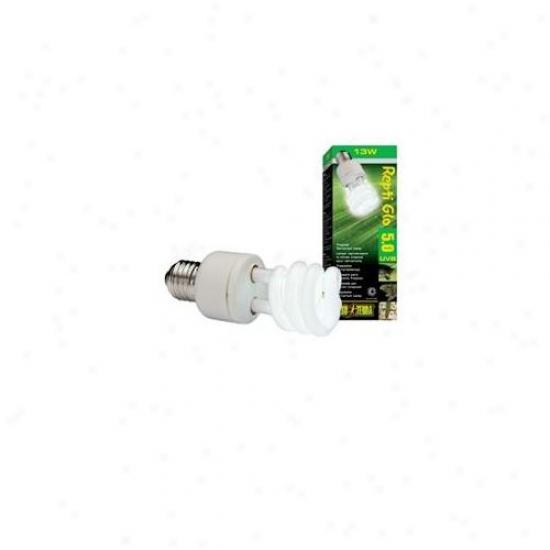 Rc Hagen Pt2186 Exo Terra Repti-glo 5. 0, Tropical Terrarium Lamp, Compact Fluorescent, 13w