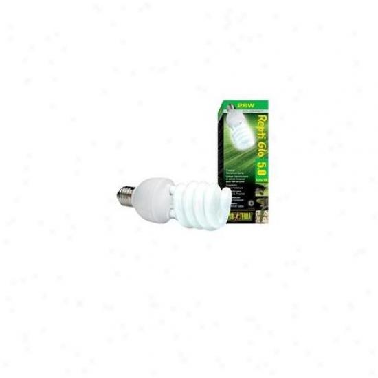 Rc Hagen Pt2187 Exo Terra Repti-glo 5. 0, Tropical Terrarium Lamp, Compact Fluorescent, 26w
