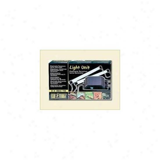 Rc Hagen Pt2237 Exo Terra Eleftronic Terrarium Lamp Controller, 2 X 30 W Ccsaus