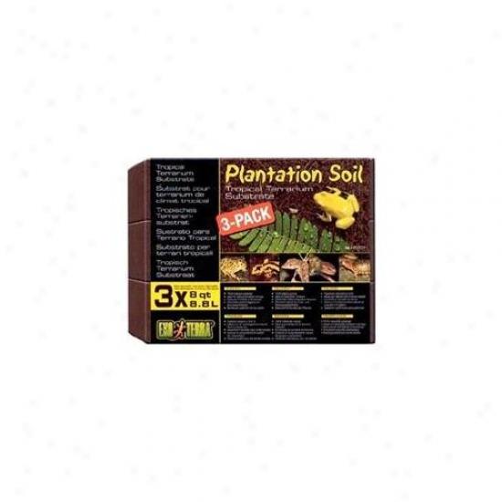 Rc Hagen Pt2771 Exo Terra Plantation Soil, 8 Qt 3 Pack