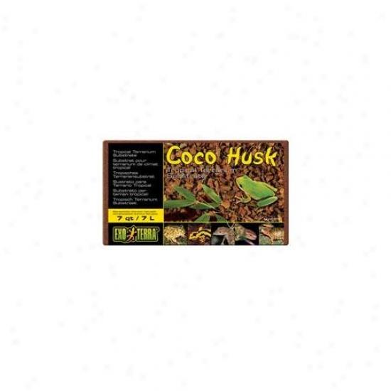 Rc Hagen Pt2775 Exo Terra Coco Husk Terrarium Substrate, 7 Qt.