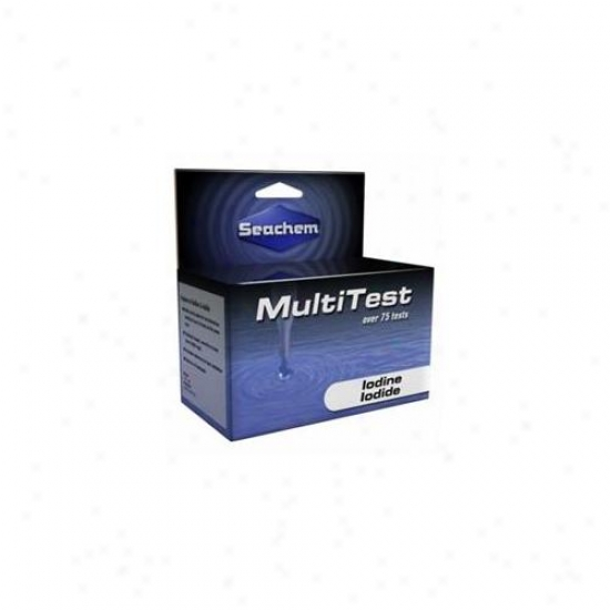 Seachem Laboratories Asm978 Multitest Iodide And Iodine Test Kit