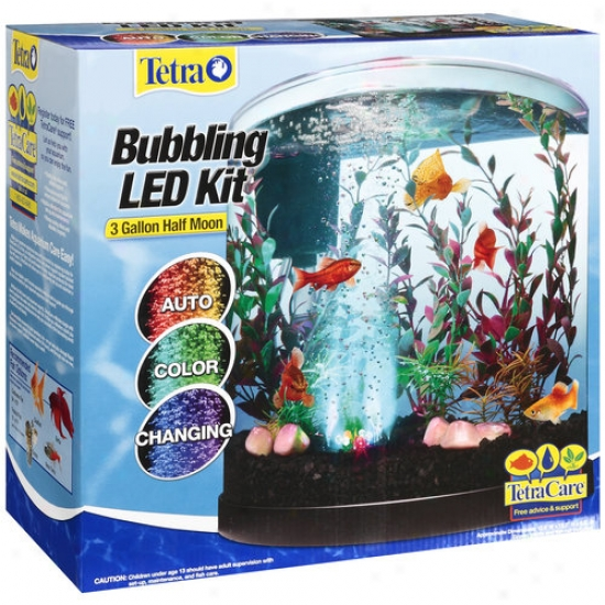 Tetra Bubbling Led Half Moon Aquarium Kit