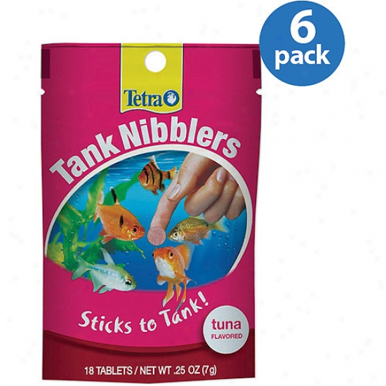 Tetra Tannk Nibblers Tuna Flavor Fish Food, 18ct (pack Of 6)
