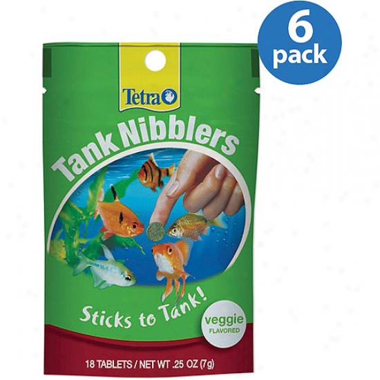 Tetra Tank Nibblers Veggie Flavor Fish Food Bundle, 18ct (pack Of 6)