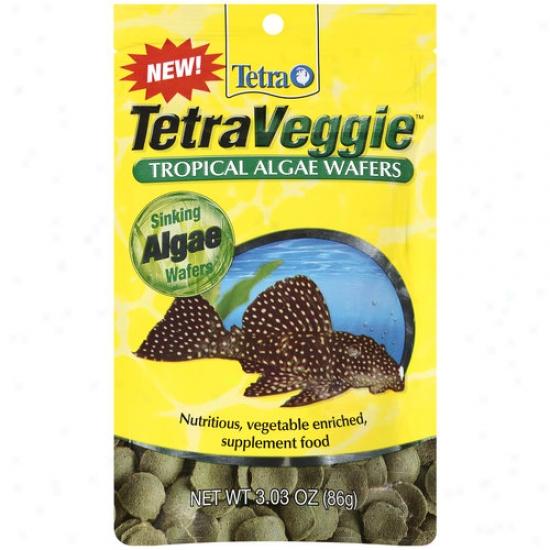 Tetra Tetraveggie Tropical Algae Wafers, 3.03 Oz