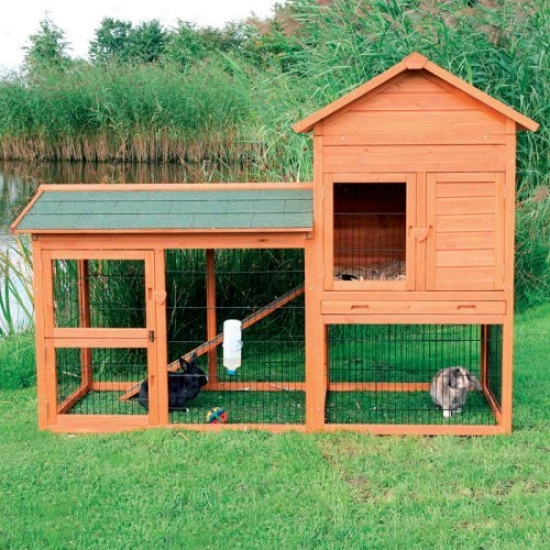 Trixie Natura Small Rabbit Hutch With Outdoor Run