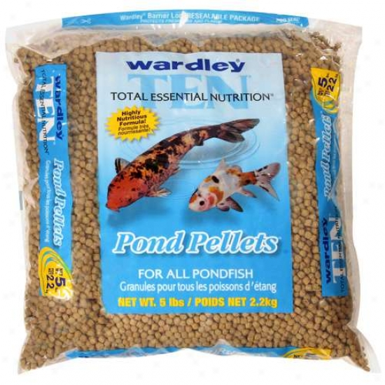 Wardley Corp Pond Ten Pond Pellets 5 Pouinds - 671
