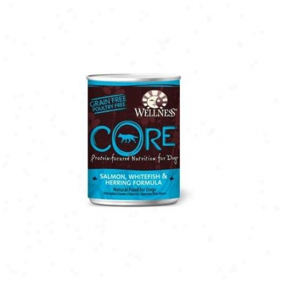 Wellness Core Salmon Whitefish And Herring Recipe Dog Food 12. 5-ounce Cans, Pack Of 12