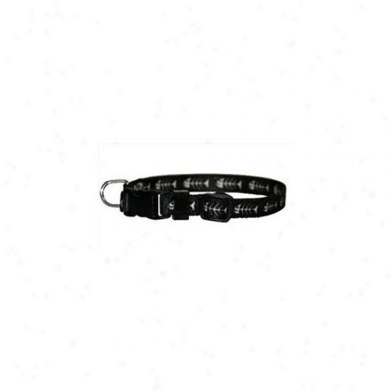 Yellow Dog Design Fbb100tc Fishbonex Black Standard Collar - Teacup