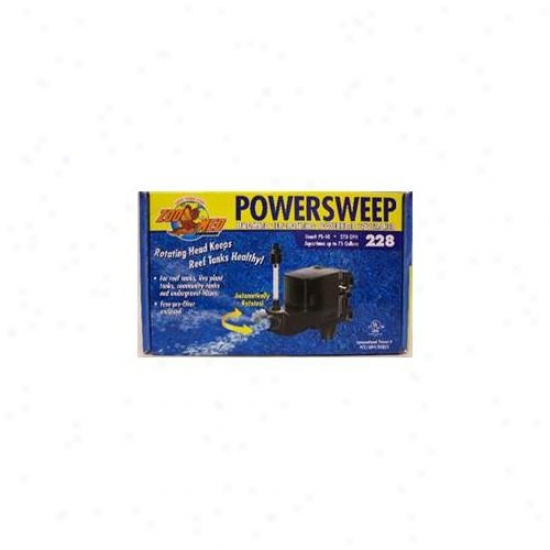 Zoo Med Labs 850-03228 Zoo Med Power Sweep Aquarium Pump 228- 270 Gph
