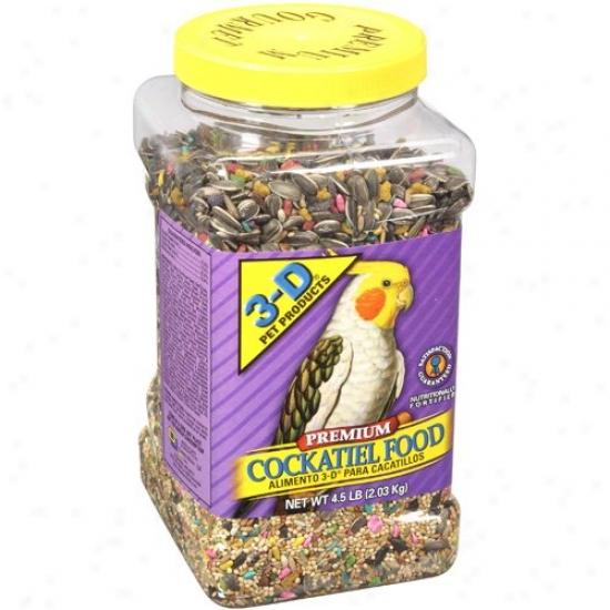 3-d Prt Products Reward Cockatiel Food, 4.5 Lb